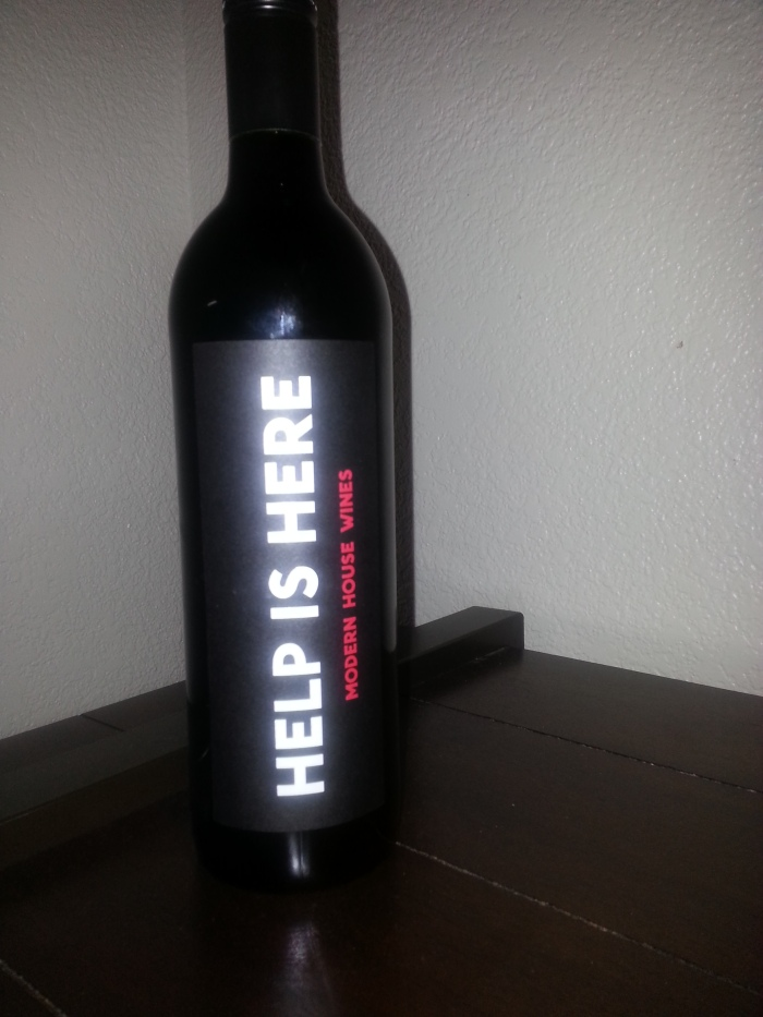 Wine sent in the mail from the bestie!